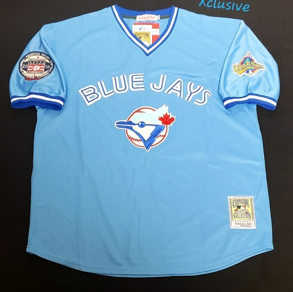 huge selection of 70a42 8f8fc Roy Halladay Toronto Blue jays Customized Jersey L NWT